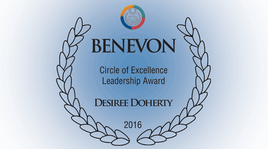 Desiree Doherty - Parent Child Center of Tulsa - Benevon Circle of Excellence Leadership Award