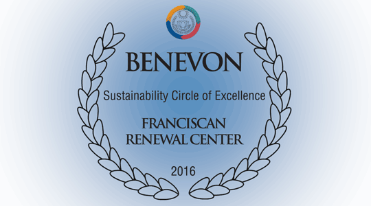 Franciscan Renewal Center - Benevon Sustainability Circle of Excellence