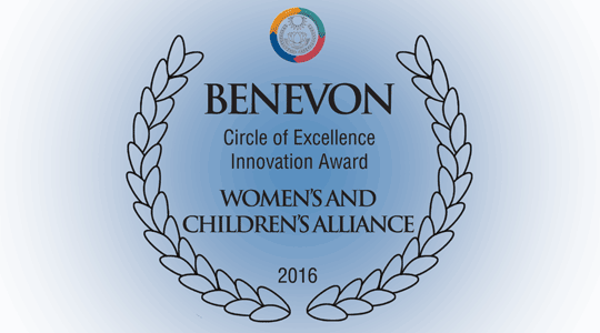 Womens and Childrens Alliance - Benevon Sustainability Circle of Excellence Innovation Award