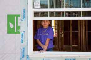 Client in her new home Trinity Habitat for Humanity