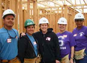 Trinity Habitat for Humanity for Humanity house building volunteers