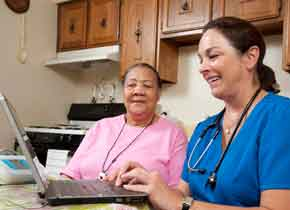 Doctor and patient at Sisters of Providence Health System