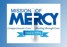 Mission of Mercy logo - Compassionate Care - Healing Through Love